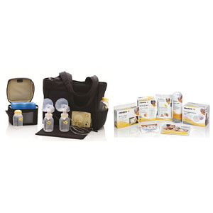 Medela breast pump tote solution set