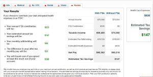final fsa calculator tax savings example